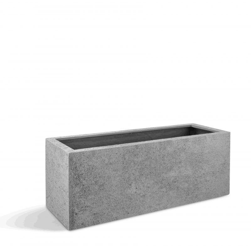 Pflanzenkübel London Box 100 (100x50x50) - Hellgrau